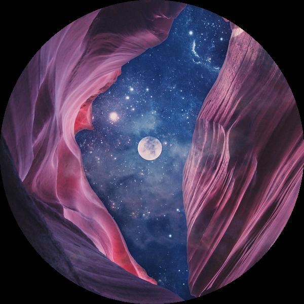 Grand Canyon met Space Collage I van Art Design Works