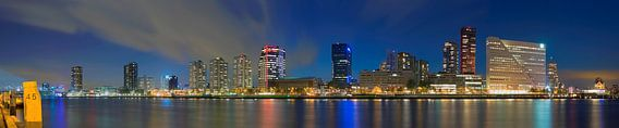Panorama de Boompjes te Rotterdam