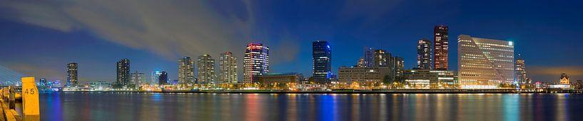 Panorama de Boompjes te Rotterdam van Anton de Zeeuw
