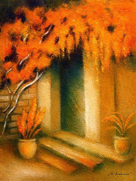 Mediterranes Licht gemalt von Marita Zacharias