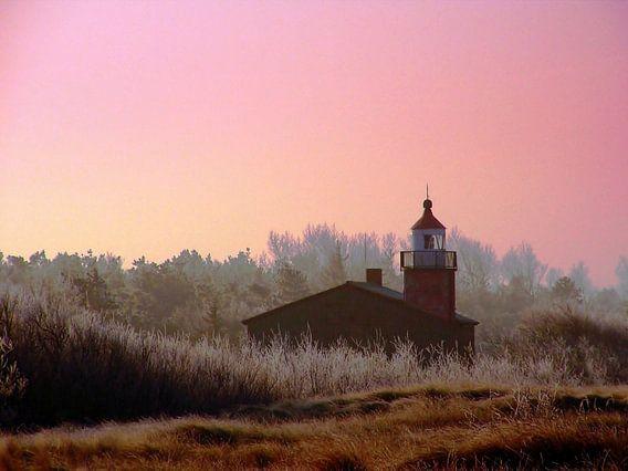 Leuchturm in Wustrow an der Ostsee van Renate Knapp