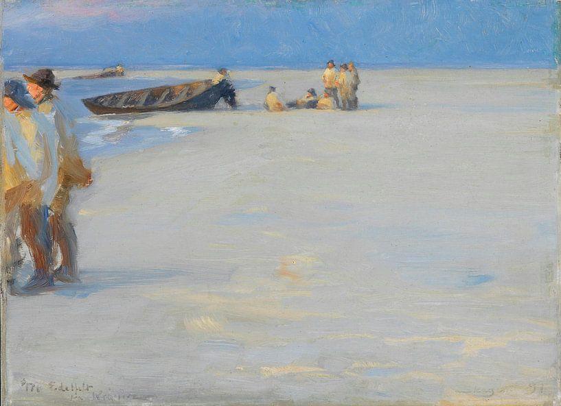 Fischer am Skagen Nordstrand. Sommerabend, Peder Severin Krøyer von Meesterlijcke Meesters