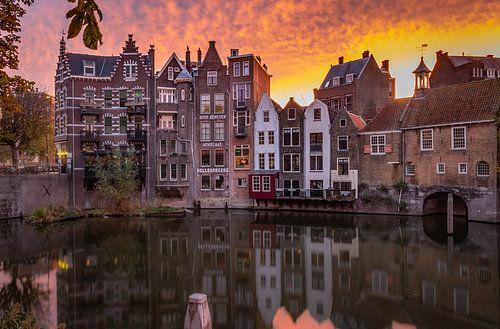 Historisch Delfshaven, Rotterdam bij zonsopkomst
