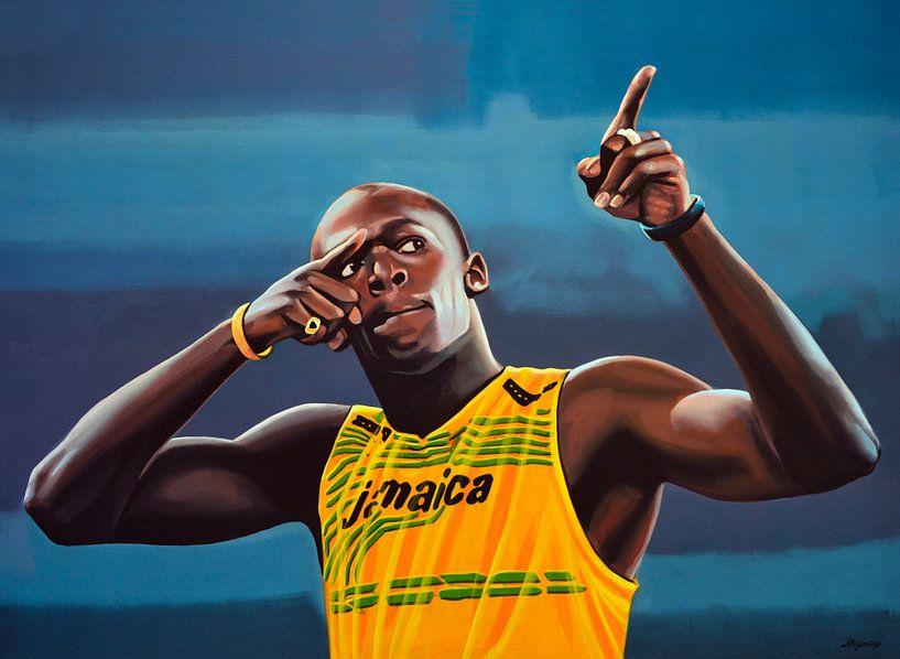 Usain Bolt Schilderij van Paul Meijering