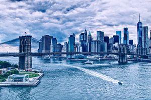 Brooklyn Bridge in New York, de verbindende factor in de stad van Studio de Waay