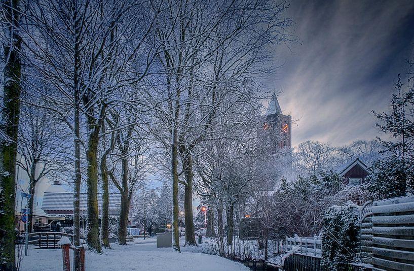 Kerk in de sneeuw van Robin Pics (verliefd op Utrecht)