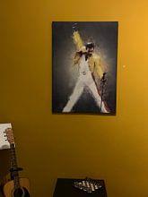 Kundenfoto: Freddie Murcury Ölgemälde Porträt von Bert Hooijer, auf leinwand