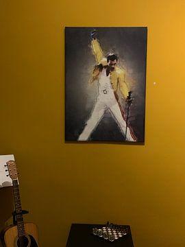 Klantfoto: Freddie Mercury olieverf portret van Bert Hooijer