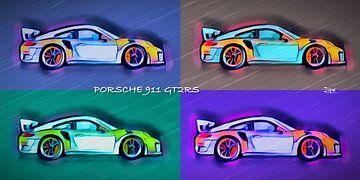 Porsche GT2RS Popart von JiPé digital artwork