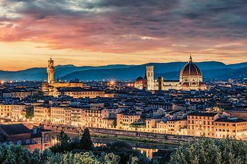 Panorama von Florenz von Manjik Pictures