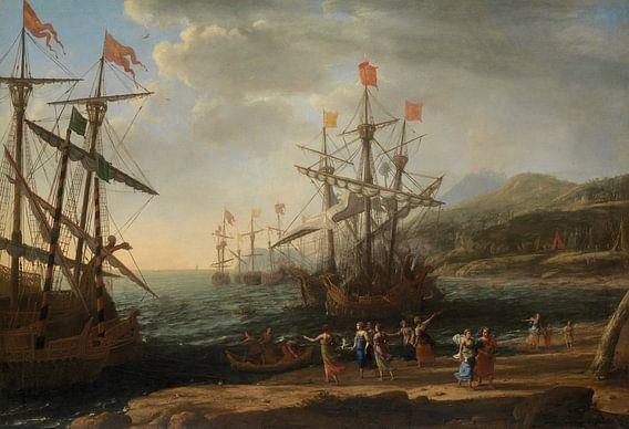 Claude Lorrain, The Trojan Women Setting Fire to Their Fleet van Meesterlijcke Meesters