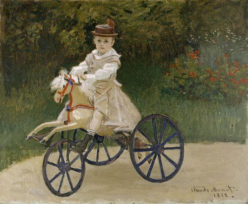 Jean Monet op zijn hobbelpaard - Claude Monet van