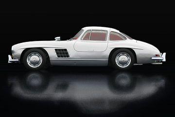 Mercedes 300 SL Gullwings Zijaanzicht