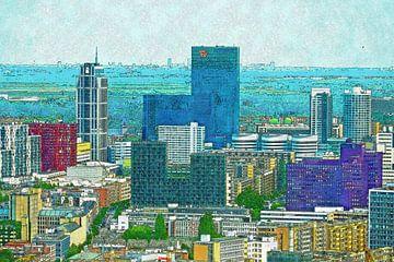 Downtown Rotterdam von Frans Blok