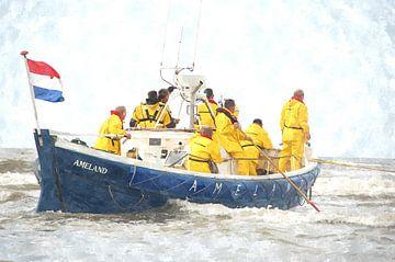 """Historische Reddingsboot Ameland """"Abraham Fock"""" van Floris De Mol"""