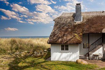 Reed huis op het strand