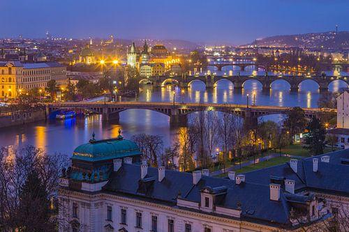 Uitzicht over de oude stad in Praag, Tsjechië - 3 van Tux Photography