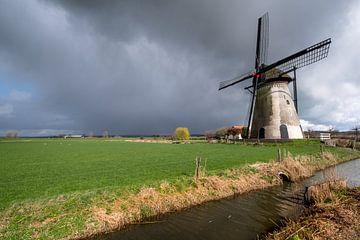 Mooie lucht boven molen von Moetwil en van Dijk - Fotografie