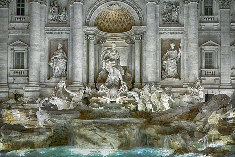 Trevi-Brunnen Rom sur Joachim G. Pinkawa