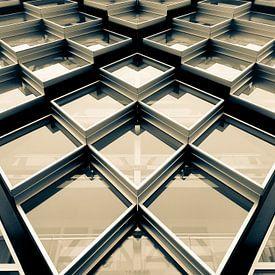 Abstrakte Fotografie Glasfassade Modernes Gebäude von Art By Dominic