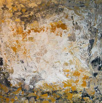 'abstrakt weiß-grau', Jan Fritz von Jan Fritz