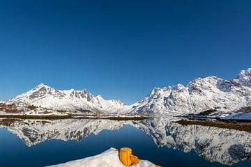 Norwegen kleiner Hafen auf den Lofoten von Maik Richter