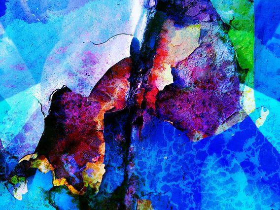 Modern, Abstract  kunstwerk - Fall Across The Sky van Art By Dominic