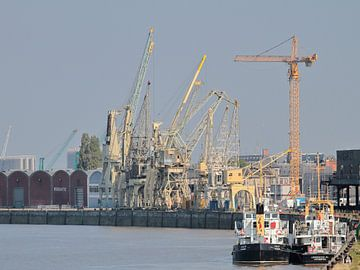 Havenzicht op de Schelde, Antwerpen van Ronald Smits