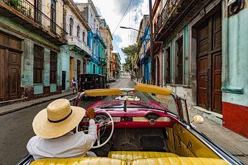 Taxifahrt in Havanna von Laurens Kleine