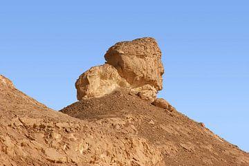 the white desert with rock formation in Egypt von Achim Prill