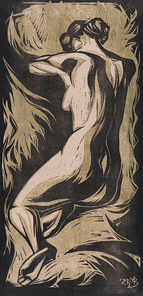 Nackte Frau, Meijer Bleekrode, 1923 von Atelier Liesjes