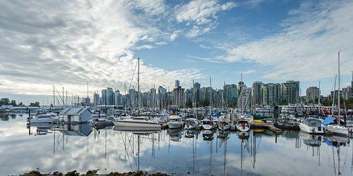 Panorama van Vancouver stad Canada van