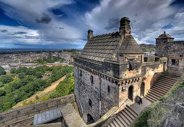 Uitzicht op Edinburg vanaf het kasteel von Jan Kranendonk