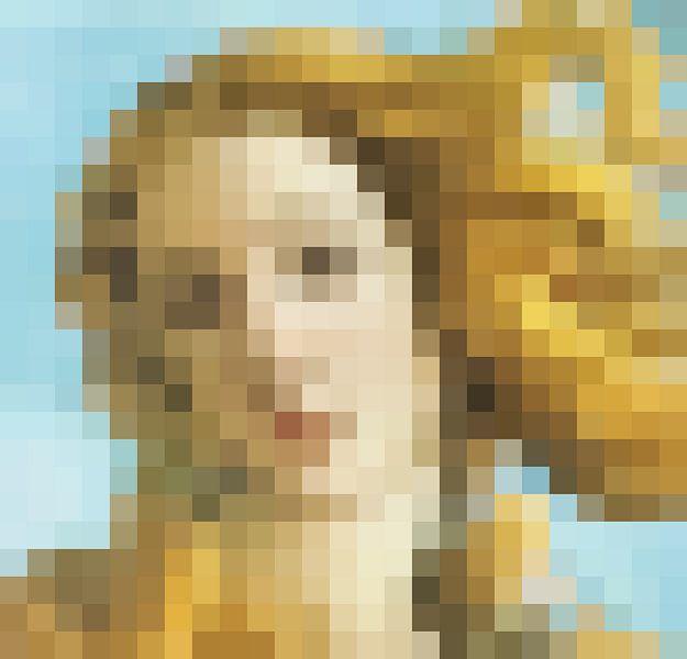 Pixel Art: De Geboorte van Venus  detail van Olaf Kramer