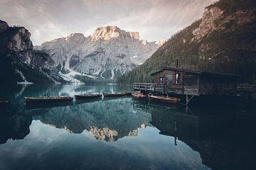 Lago di Braies, Dolomieten, Italië van Felix Van Lantschoot