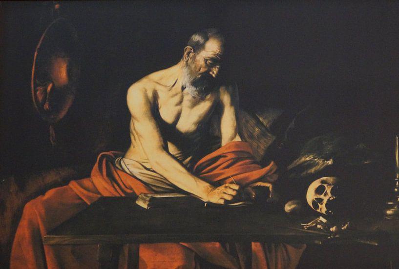 De heilige Hieronymas schrijft / Saint Jerome writing / San Girolamo scrivente, Caravaggio von Maurits Bredius