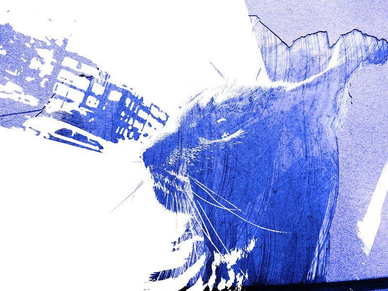 Kattenkunst - Odin 1 van MoArt (Maurice Heuts)