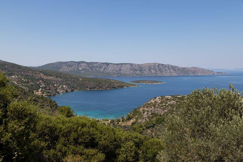 Uitzicht op Samos Posidonio van Elly Damen