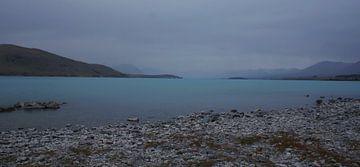 Blouw Gletsjer meer in Nieuw Zeeland von Dennis Rietbergen