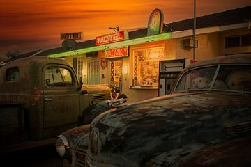 Route 66 sfeerplaat van Humphry Jacobs