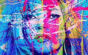 Kate Moss Splash Pop Art PUR