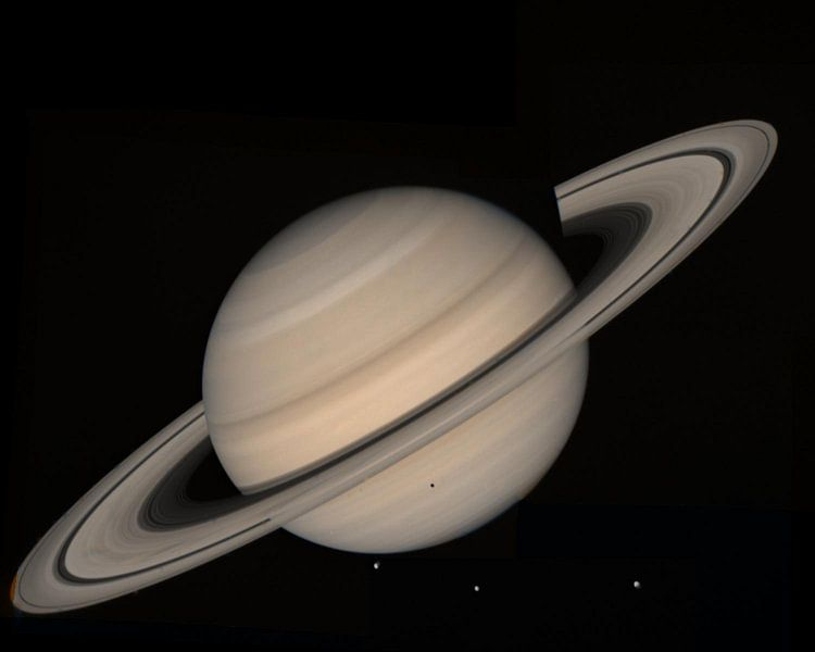 Saturn Hubble photo van Brian Morgan