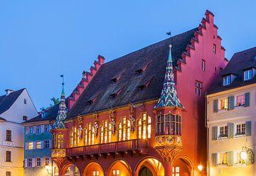 Historisch warenhuis in Freiburg im Breisgau van Werner Dieterich