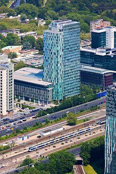 Luchtfoto WTC Amsterdam van Anton de Zeeuw