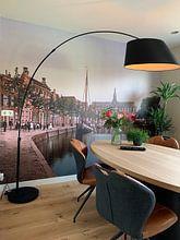 Klantfoto: Turfmarkt en Spaarne, Haarlem van Vintage Afbeeldingen, als naadloos behang