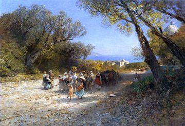 Nach der Feldarbeit, ALBERT FLAMM, Ca. 1850