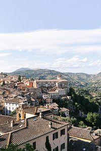 Blick über die Stadt Perugia   Umbrien   Italien   Architektur   Reisefotografie von Mirjam Broekhof