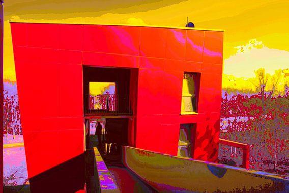Rood gebouw van Guus Jamin