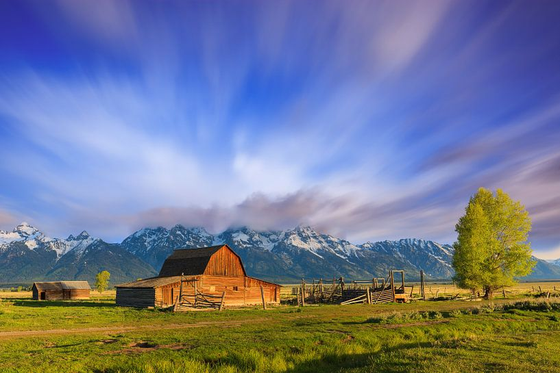 Mormon Row Barn, Grand Teton N.P, Wyoming. van Henk Meijer Photography