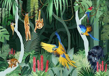 L'agitation dans la jungle sur Goed Blauw